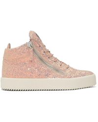 Giuseppe Zanotti - Ssense Exclusive Pink Glitter May London High-top Trainers - Lyst