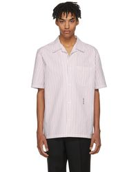 Alexander Wang - White And Red Pinstripe Short Sleeve Ny Post Made You Look Shirt - Lyst