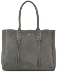 Lanvin - Grey Small Suede Shopper Tote - Lyst
