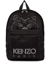 KENZO - Black Limited Edition Holiday Tiger Backpack - Lyst
