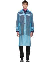 CALVIN KLEIN 205W39NYC - Blue Long Plastic Coat - Lyst