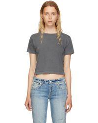 AMO - Grey Babe T-shirt - Lyst