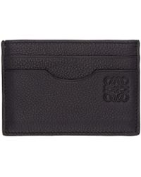 Loewe - Navy Leather Card Holder - Lyst