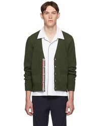 Thom Browne - Green Relaxed-fit Cardigan - Lyst