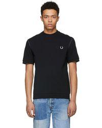Comme des Garçons - Black Fred Perry Edition Pique T-shirt - Lyst