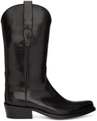 Brioni - Black Cowboy Boots - Lyst