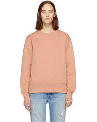 Acne Studios - Pink Oversized Fairview Face Sweatshirt - Lyst
