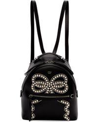Fendi - Black Mini Romantic Bow Backpack - Lyst