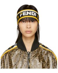 Fendi - Black And White Mania Headband - Lyst