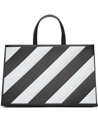 Off-White c/o Virgil Abloh - Black Medium Diagonal Box Bag - Lyst