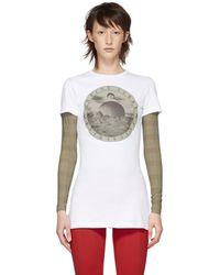 Marine Serre - White Logo T-shirt - Lyst