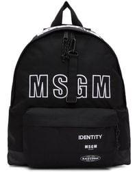 MSGM - Black Eastpak Edition Backpack - Lyst
