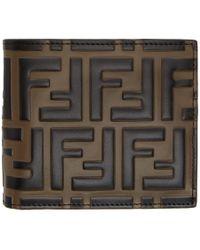 Fendi - Logo-embossed Leather Billfold Wallet - Lyst