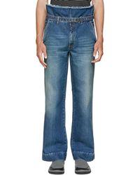 Maison Margiela - Blue High-rise Dungaroo Jeans - Lyst