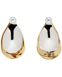 Charlotte Chesnais | Gold And Silver Mini Petal Earrings | Lyst