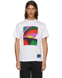 Prada - White Car T-shirt - Lyst
