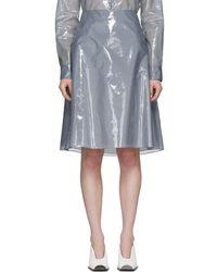 Jil Sander - Blue Plastic Coating Essere Skirt - Lyst