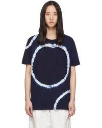 Blue Blue Japan - Navy Big Circle Shibori T-shirt - Lyst