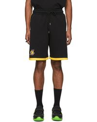 Marcelo Burlon - Short noir Lakers edition NBA - Lyst