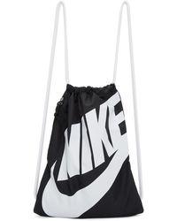 Nike - Black Heritage Logo Gym Backpack - Lyst