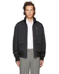 Wooyoungmi - Reversible Black Zip-up Jacket - Lyst