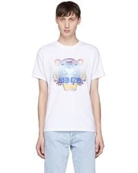 KENZO - White Limited Edition Tiger T-shirt - Lyst
