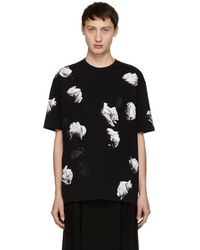 Lad Musician - Black And White Big Rose T-shirt - Lyst