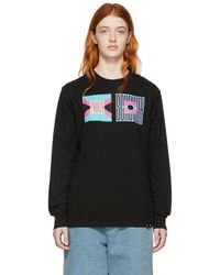 Proenza Schouler - Black Pswl Flag Long Sleeve T-shirt - Lyst