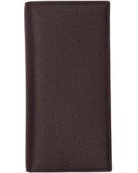 Valextra - Black 12cc Vertical Wallet - Lyst