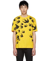 McQ - Yellow Swallows T-shirt - Lyst