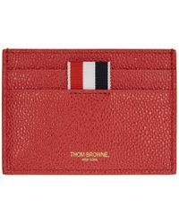 Thom Browne - Ssense Exclusive Red Single Card Holder - Lyst