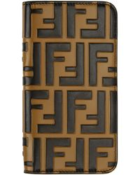 Fendi - Brown Forever Iphone X Case - Lyst