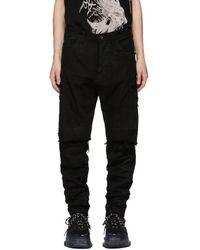 Julius - Black Destroyed Jeans - Lyst