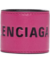 Balenciaga - Pink And Black Cycle Bracelet - Lyst