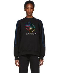 ADER error - Black Slice Logo Sweatshirt - Lyst