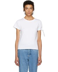 JW Anderson - White Single Knot T-shirt - Lyst