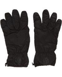 Stone Island - Black Nylon Puffy Gloves - Lyst