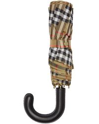 Burberry - Beige Vintage Check Trafalgar Umbrella - Lyst