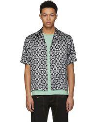 Maison Margiela | Black Printed Pattern Shirt | Lyst