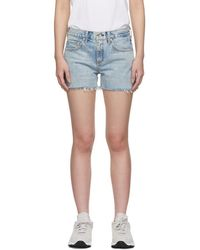 Rag & Bone - Blue Denim Boy Shorts - Lyst