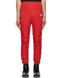 Vetements - Red 'unidad Hombres' Track Pants - Lyst