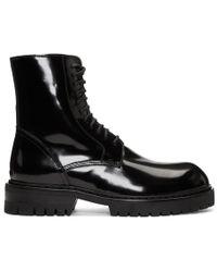 Ann Demeulemeester - Black Abrasivato Boots - Lyst