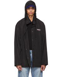 Balenciaga - Black Archetype Logo Raincoat - Lyst