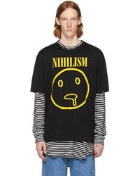 Lad Musician - Black Permanent Rocker 'nihilism' T-shirt - Lyst