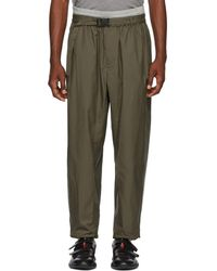 3.1 Phillip Lim - Green And Grey Double Track Lounge Trousers - Lyst