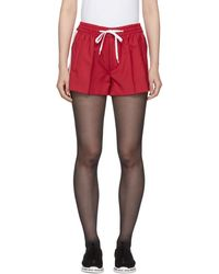 Miu Miu - Red Drawstring Shorts - Lyst