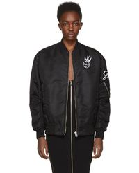 McQ - Black Patches Ma-1 Bomber Jacket - Lyst