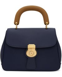Burberry | Blue Contrast Duffle Bag | Lyst
