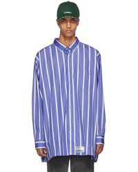 Vetements - Blue And White Oversized Stripe Shirt - Lyst