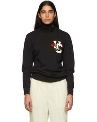 Undercover - Black Rose Sweatshirt - Lyst